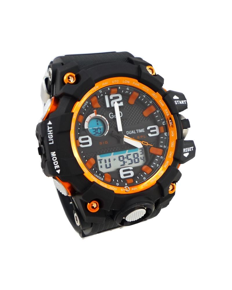 Pánské digitální hodinky G.D Purely oranžovo-černé 312ZP 9646ea9a62