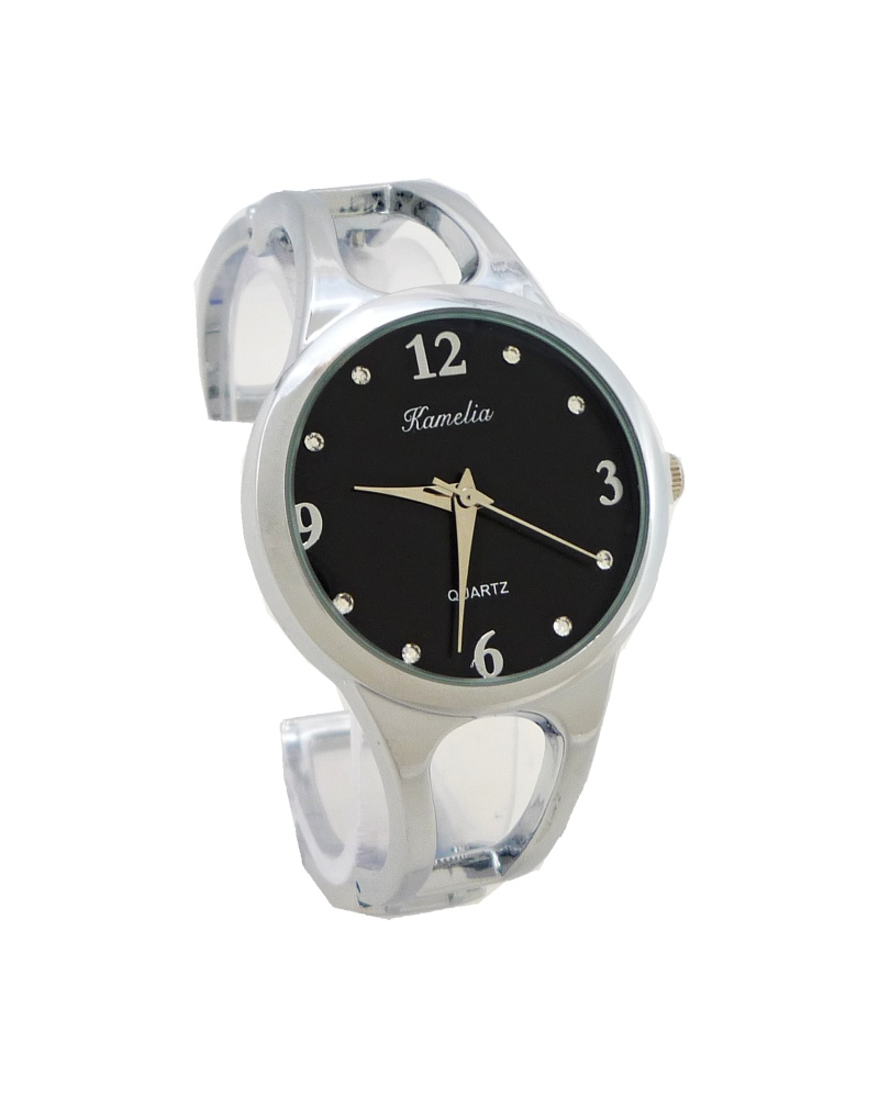 Dámské hodinky Kamelia Jolly černo-stříbrné 583D 0782c9bfcb