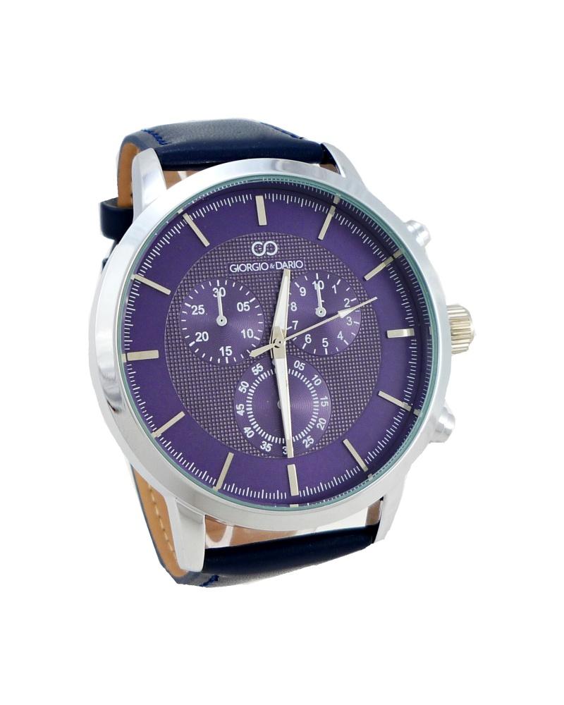 64c63b1a977 Pánské kožené hodinky Giorgio Dario Lain modré 340P