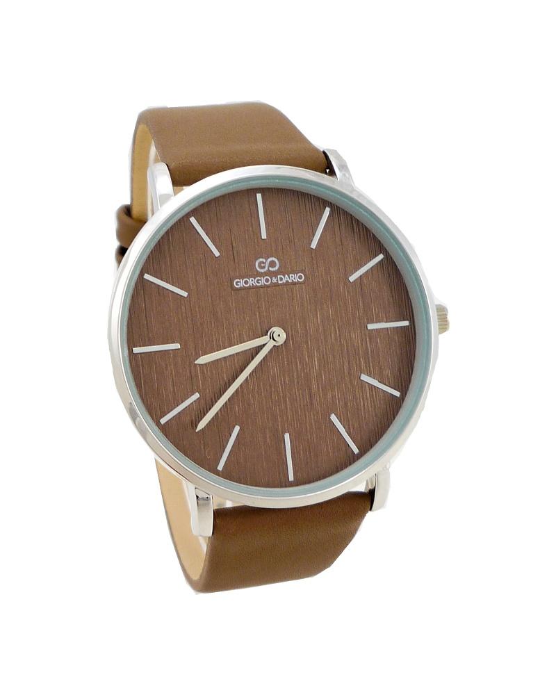 449c8fee21b Dámské hodinky Giorgio Dario Perfekt stříbrno-světle hnědé 814D