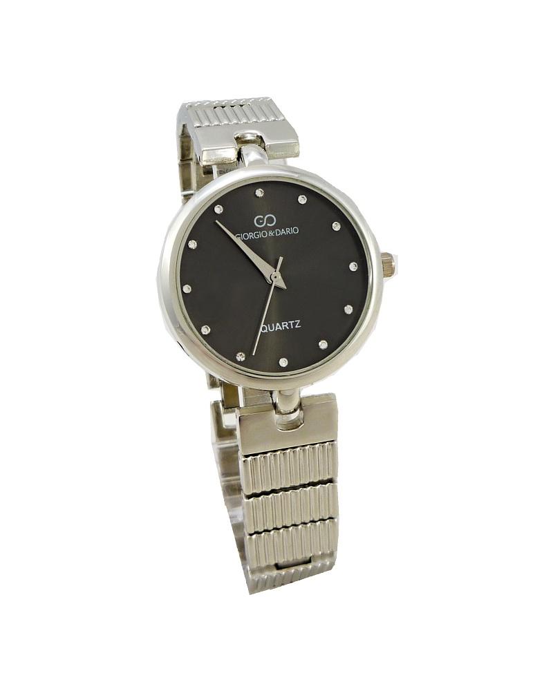 Dámské hodinky Giorgio Dario Delikte stříbrno-černé 510ZD