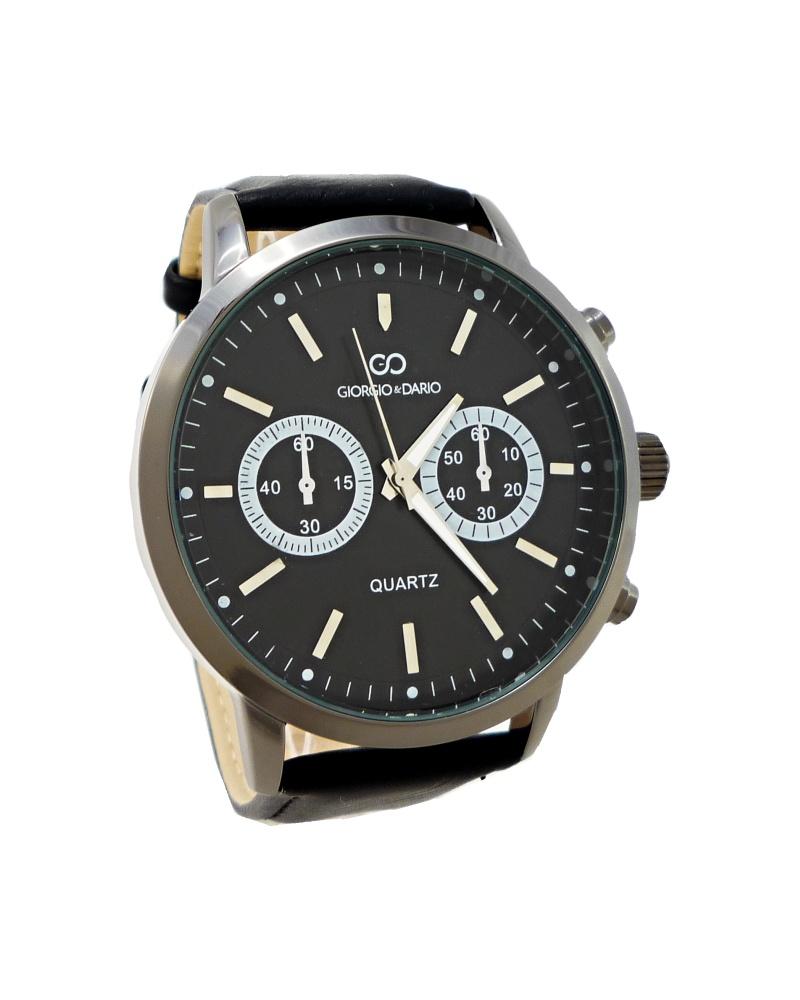 Pánské kožené hodinky Giorgio Dario Tally černé 347P 493c36b1df