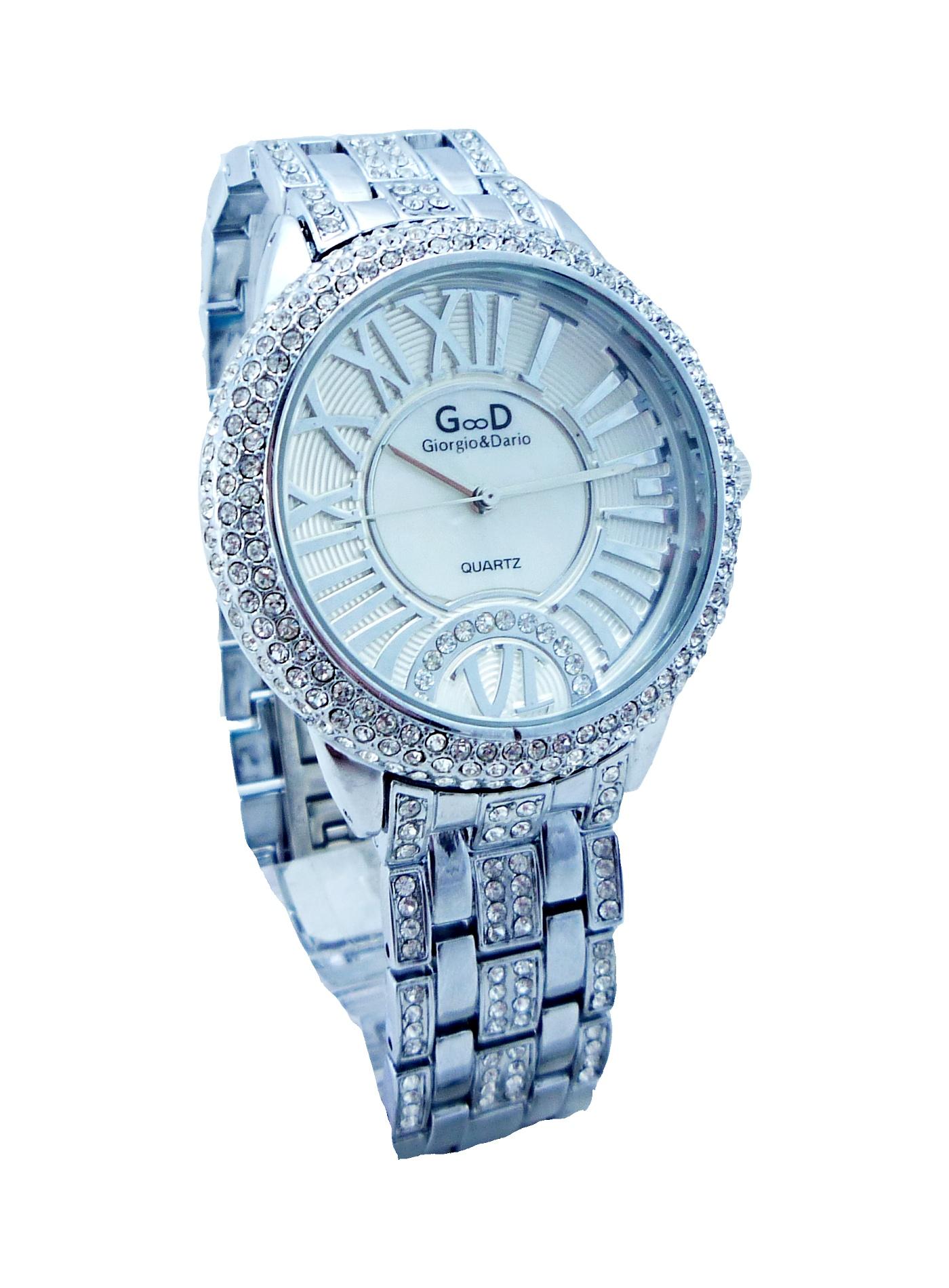 Dámské stříbrné hodinky EXTRAVAGANS white 170D