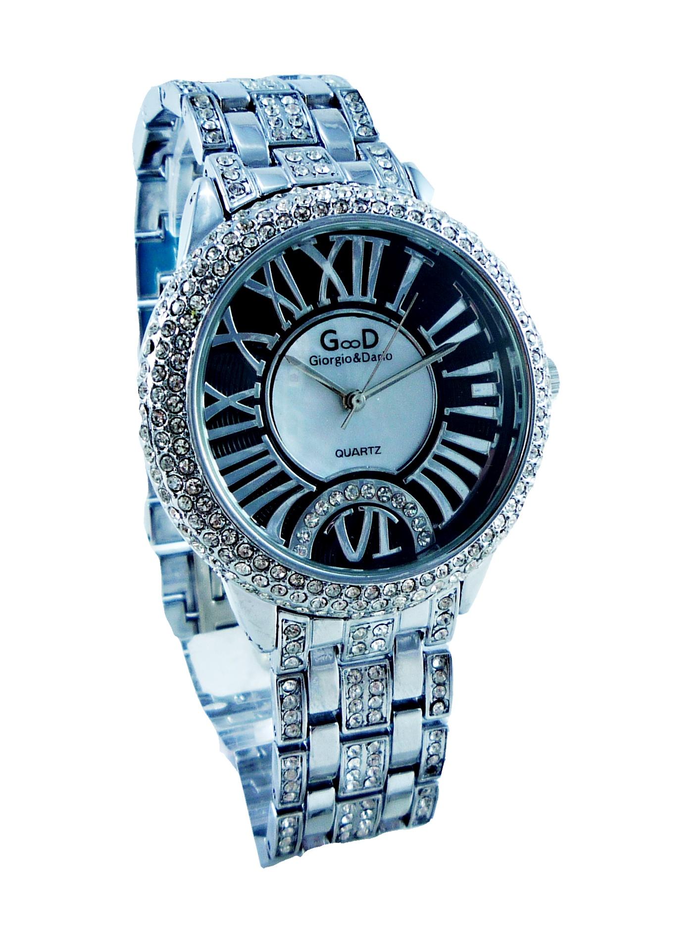 Dámské stříbrné hodinky EXTRAVAGANS Black 171D