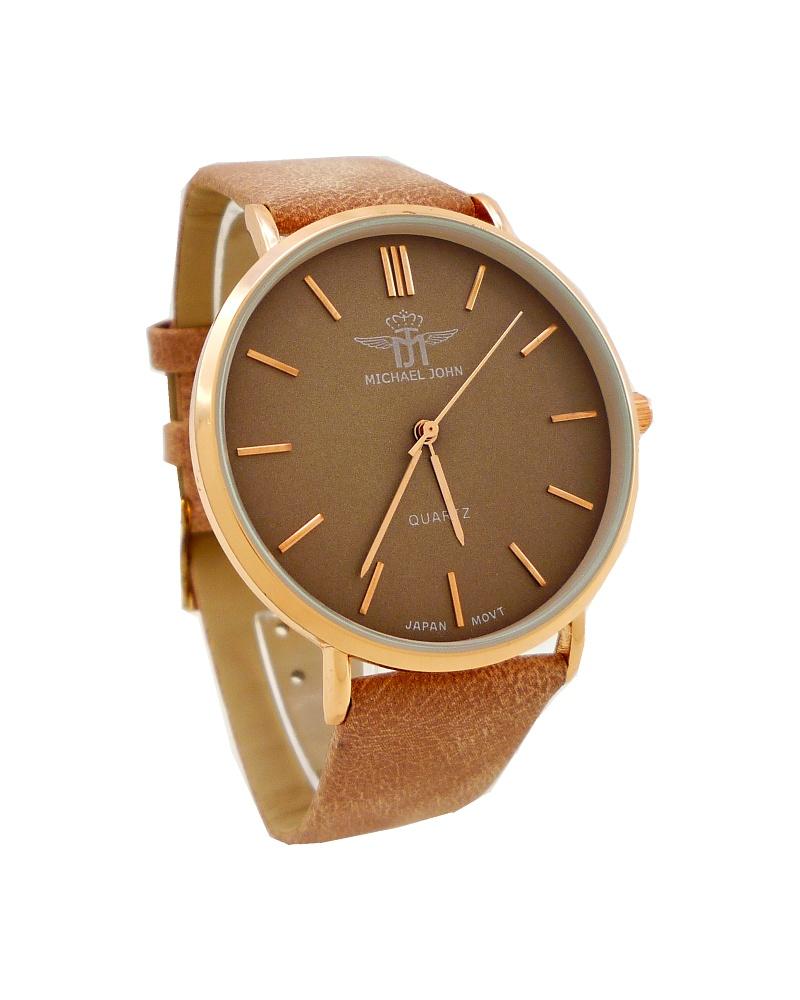 58b25a5db6c Dámské hodinky John Style světle hnědé 741D