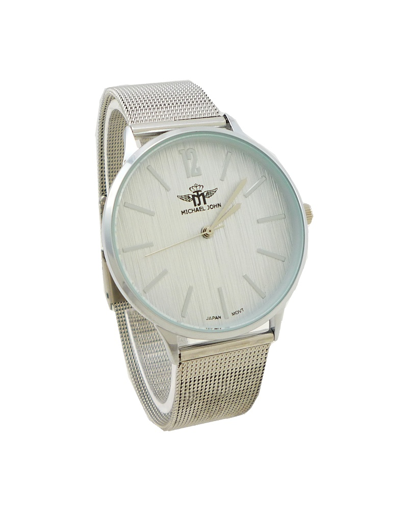 Dámské hodinky Michael John Nolly stříbrné 793D