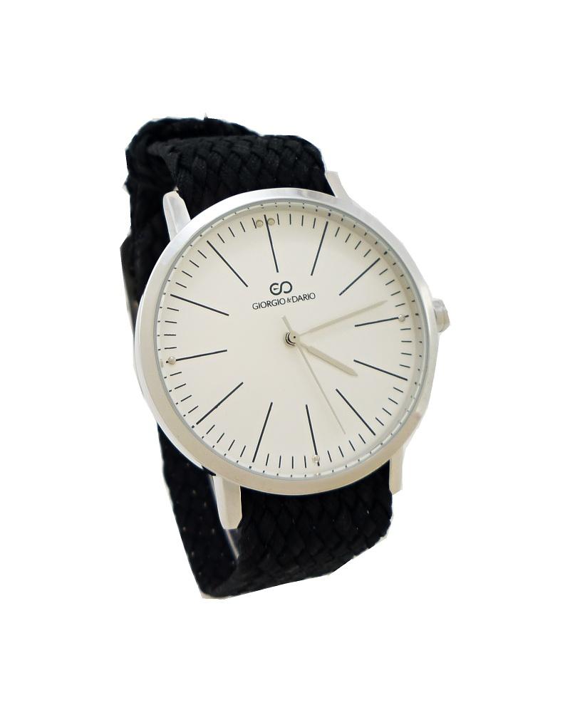 Dámské hodinky Giorgio Monny stříbrno-černé 699ZD 3791862718