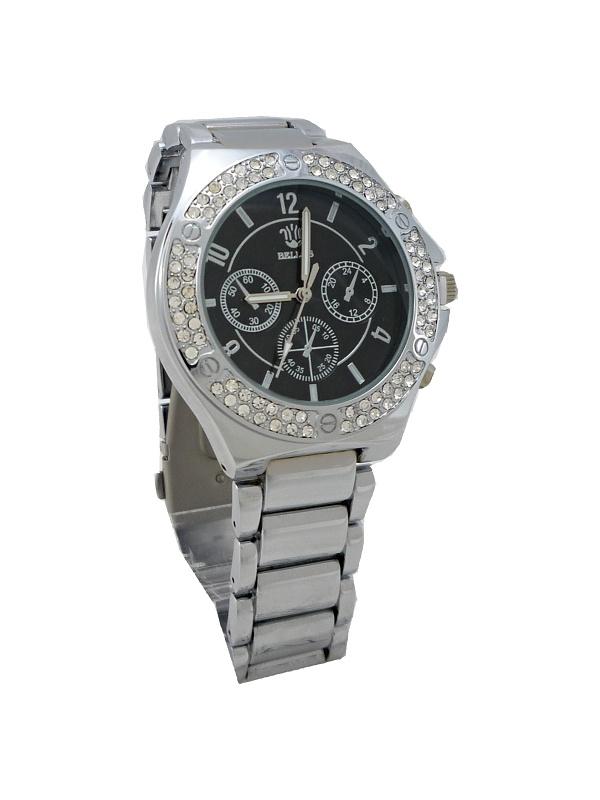Dámské hodinky BELLOS Katty černo-stříbrné 692ZD