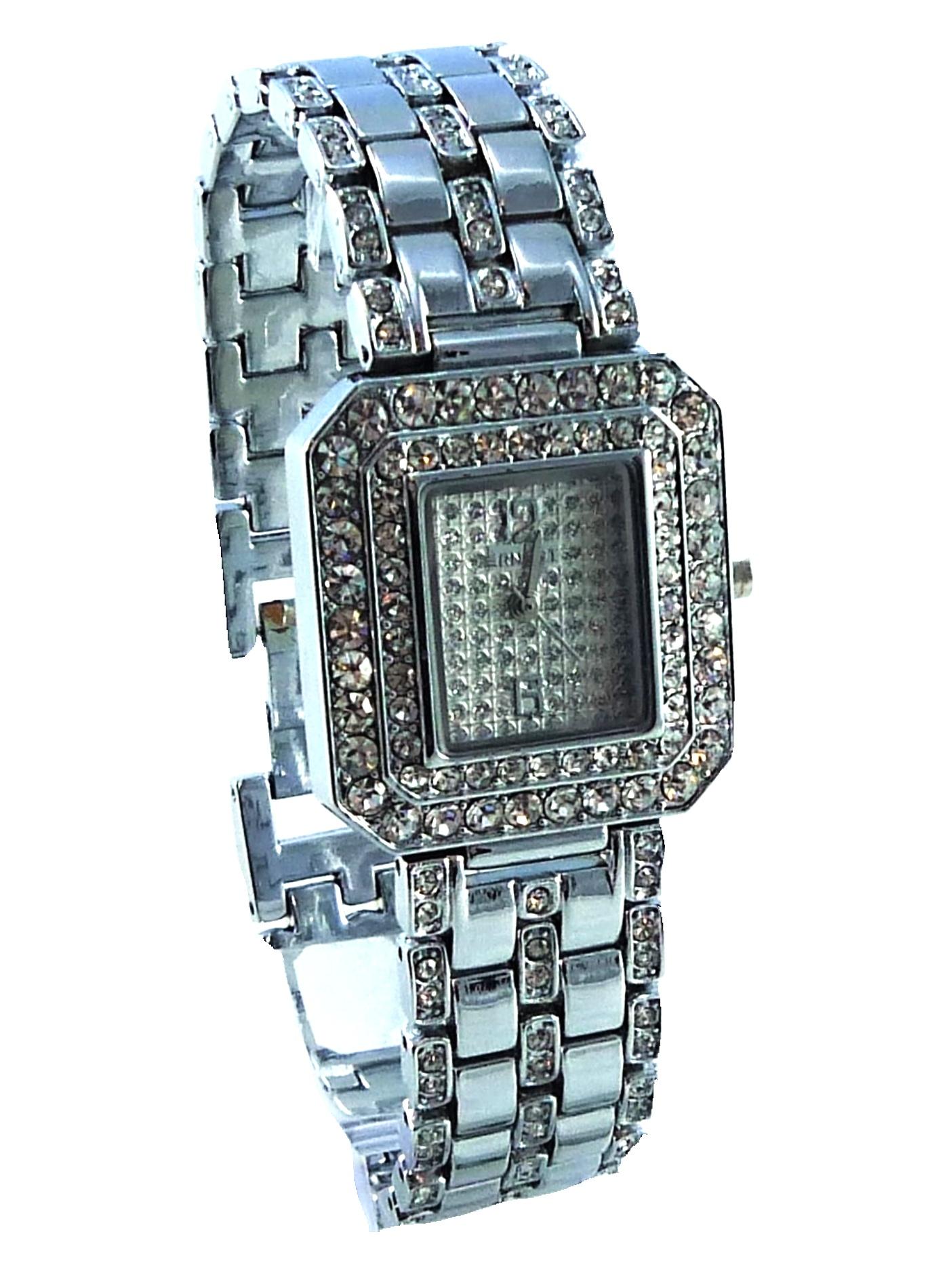 Stříbrné hodinky dámské Extra Silver zirkon 103D