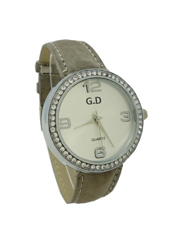 8cae963611d Dámské hodinky G.D stříbrno-šedé 674D