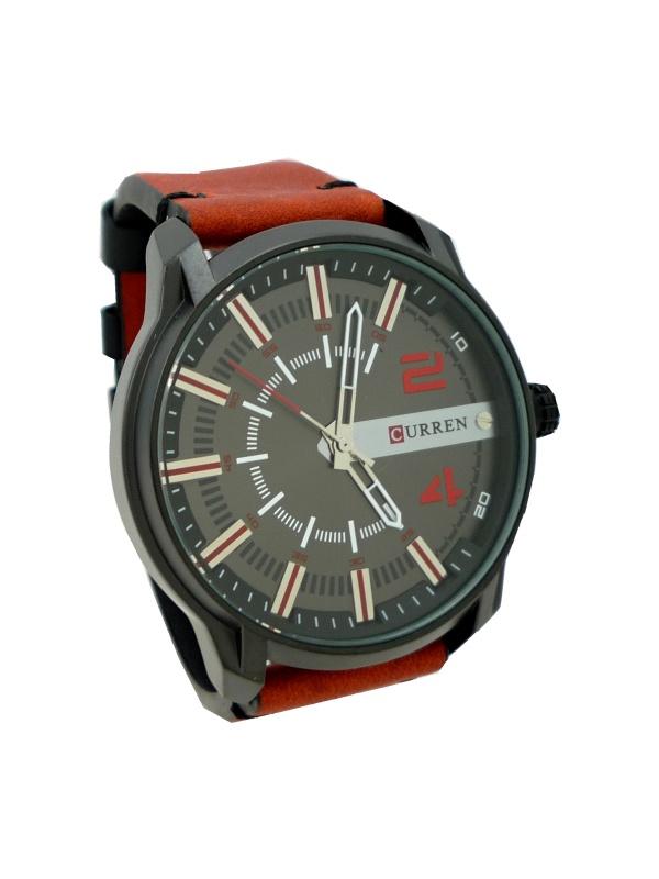 Pánské hodinky Curren Direct červené 368P 6147a135fe