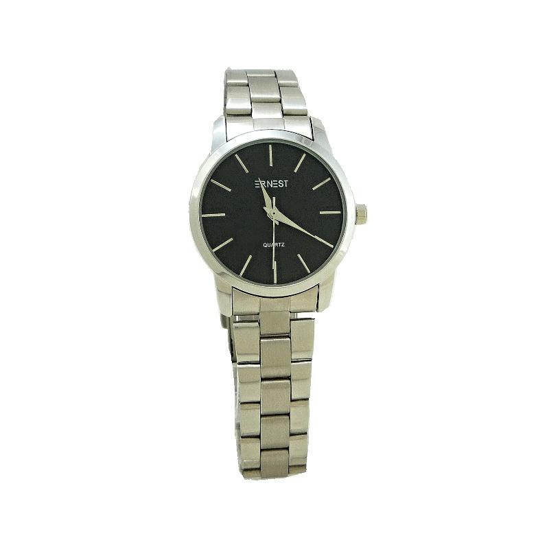 Dámské hodinky Ernest Arty černo-stříbrné 777D