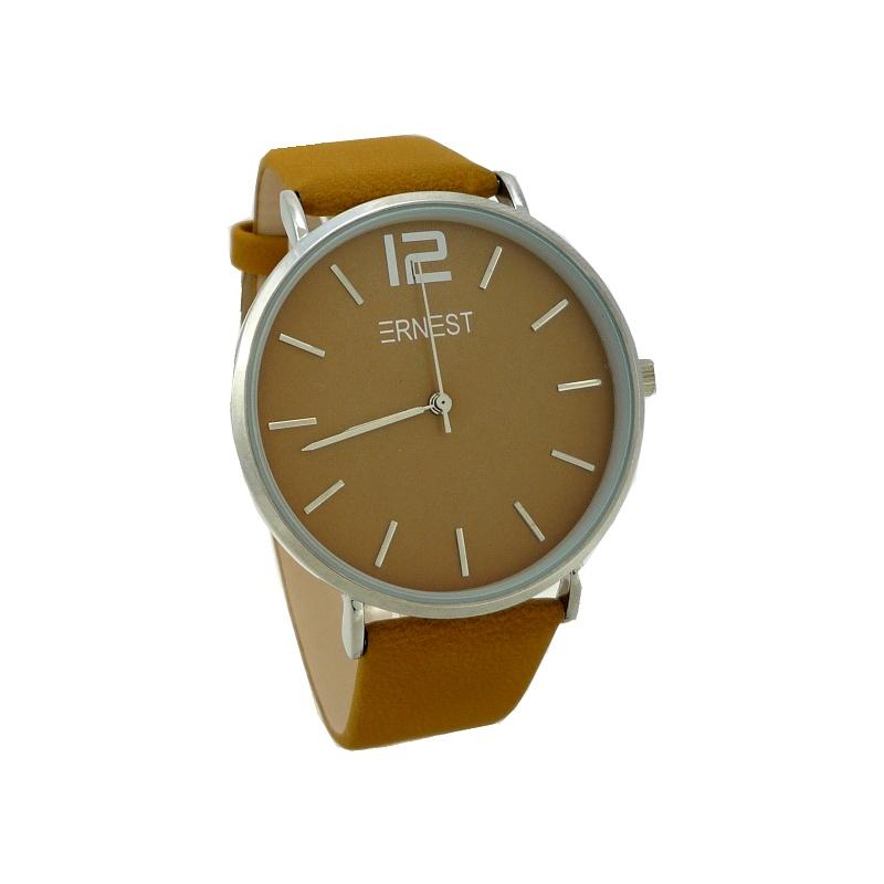 Dámské hodinky Ernest Soil hořčicově hnědá 840D e6cc3dfd9d