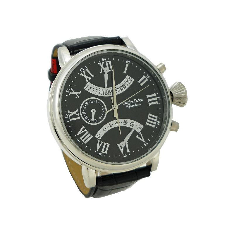 Pánské hodinky Charles Delon Narry černé 378P 022879c1e9
