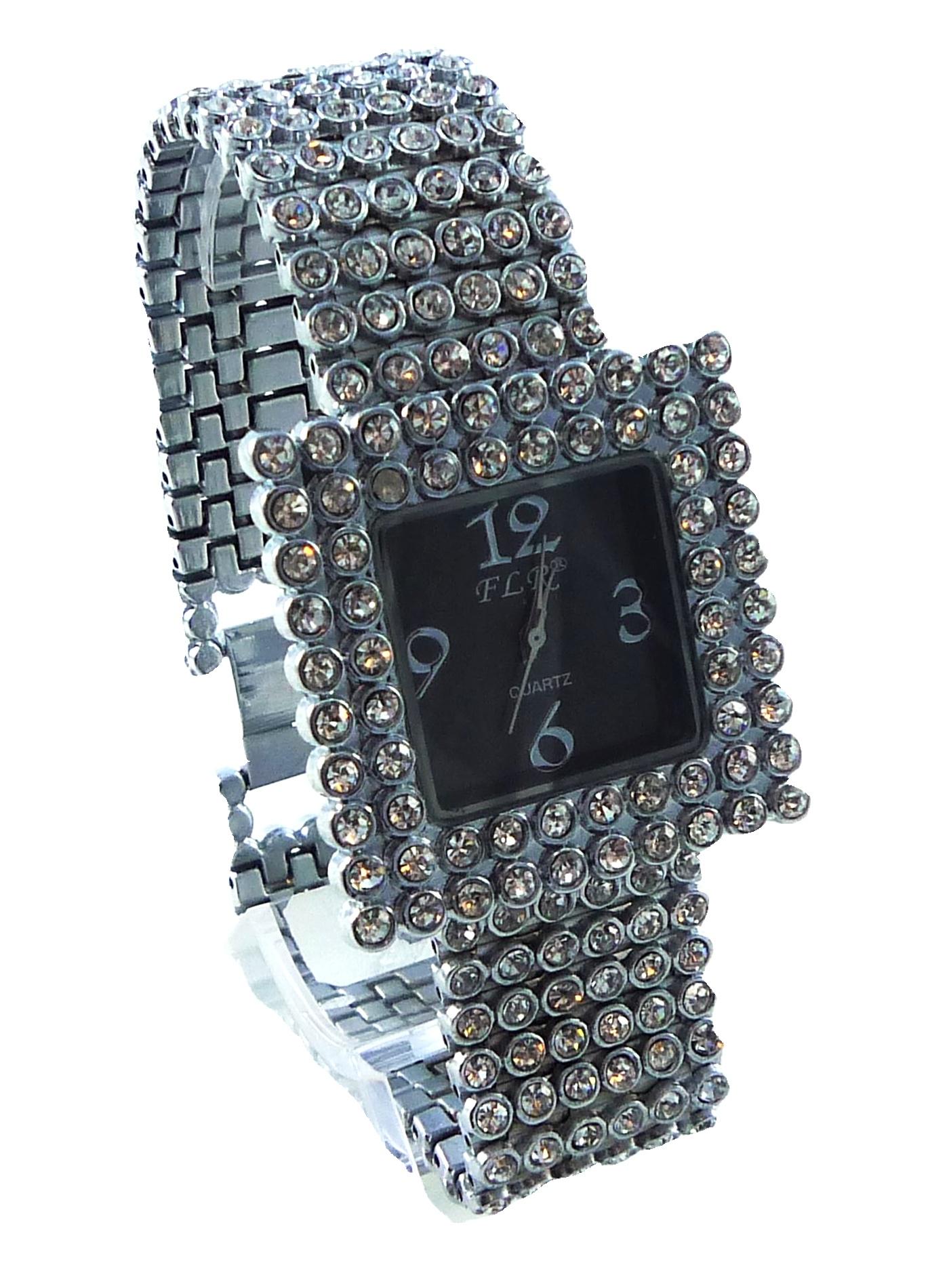 Dámské stříbrné hodinky FLR Kubus 126D