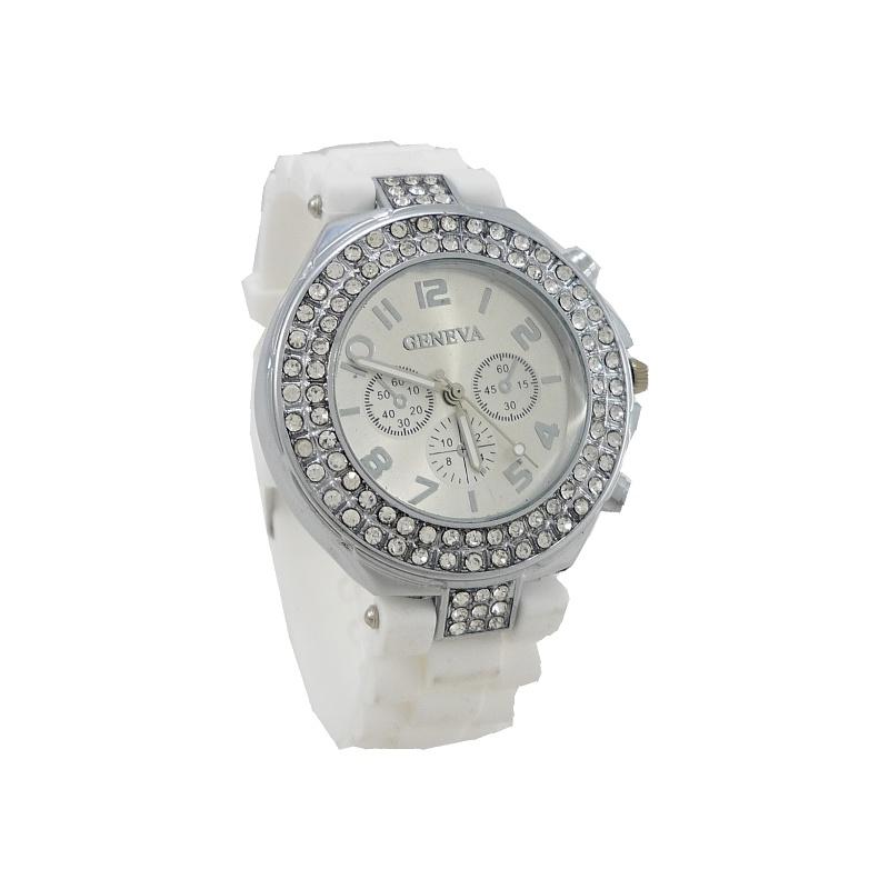 Dámské hodinky Geneva Ketty bílé 675D 6e6bcc7d7fc