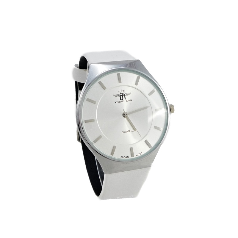 Dámské hodinky Michael John Nally bílé 927ZD  efbbec40d7