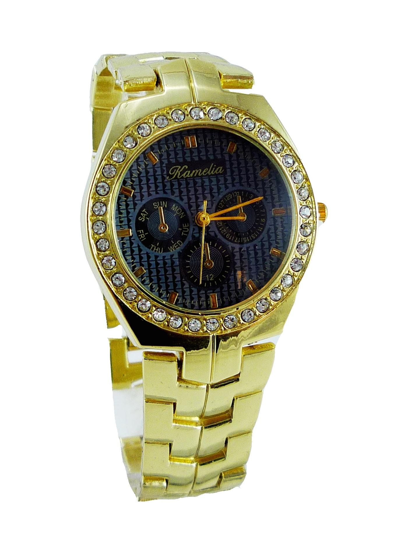 Dámské zlaté hodinky KAMELIA Time Grey 004D