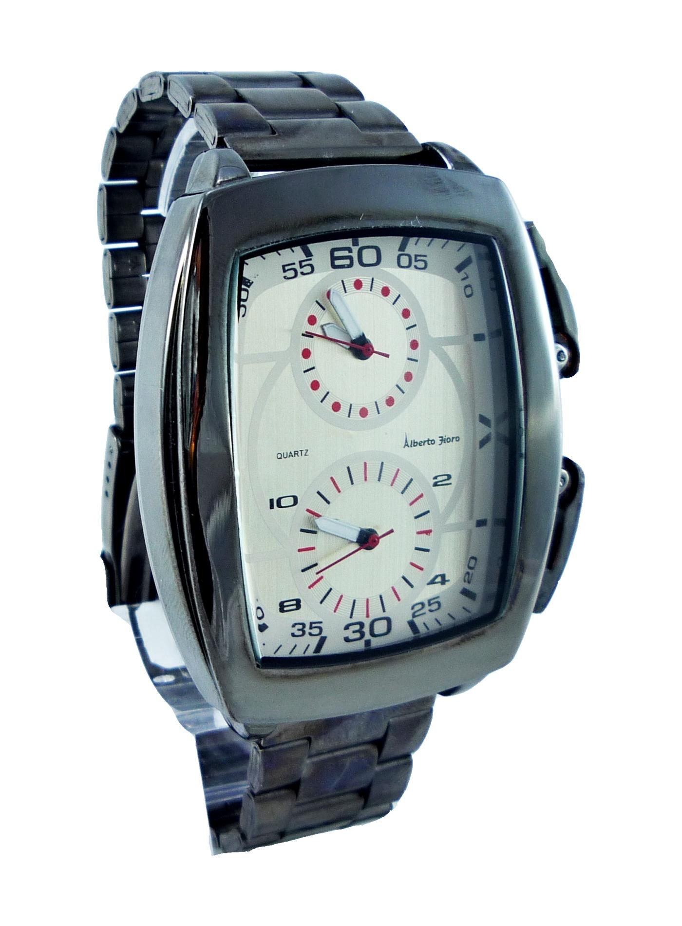 Pánské hranaté hodinky ALBERTO Tioro hnědé 085P