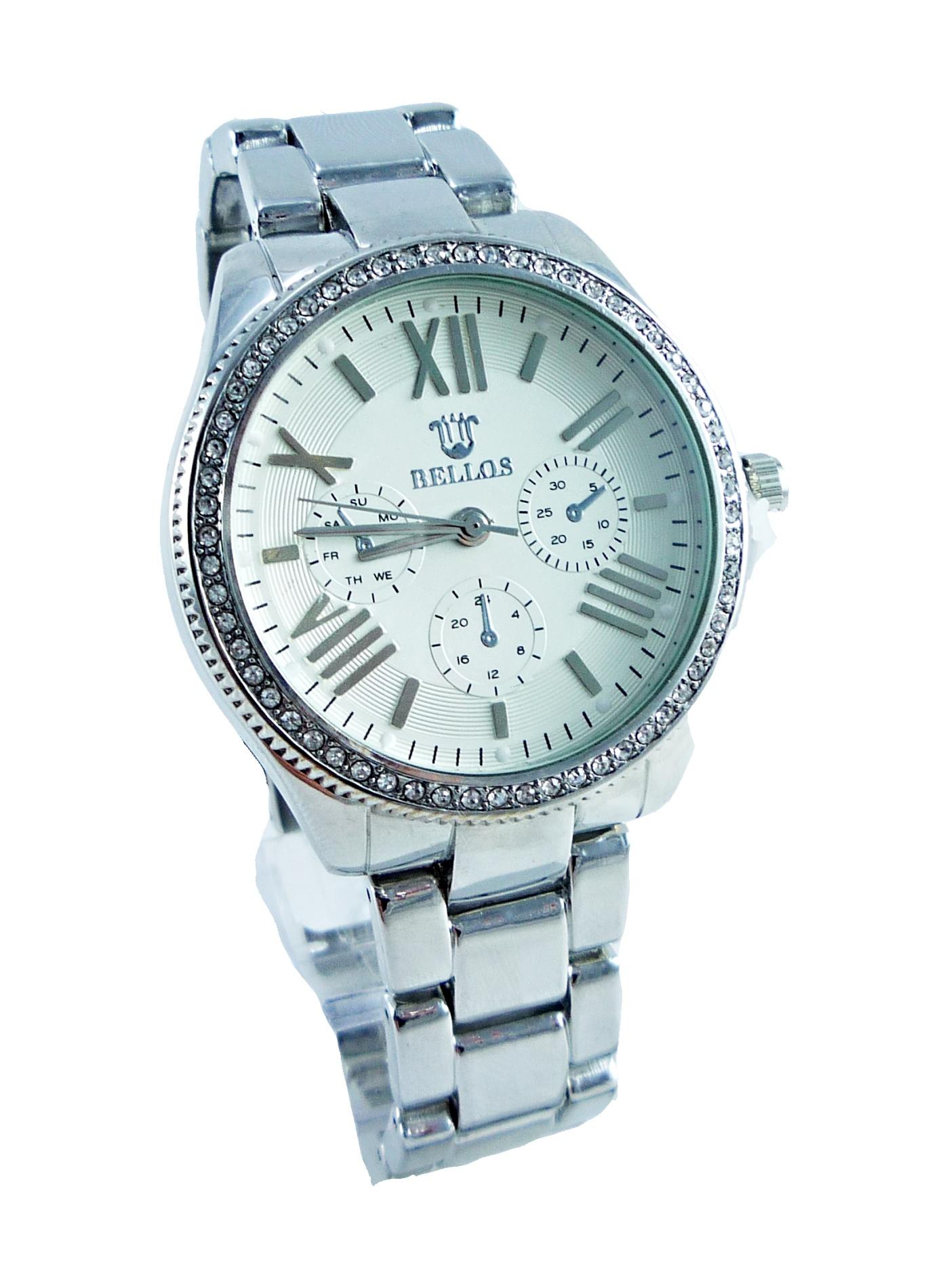 Dámské stříbrné hodinky BELLOS silver nice 042D