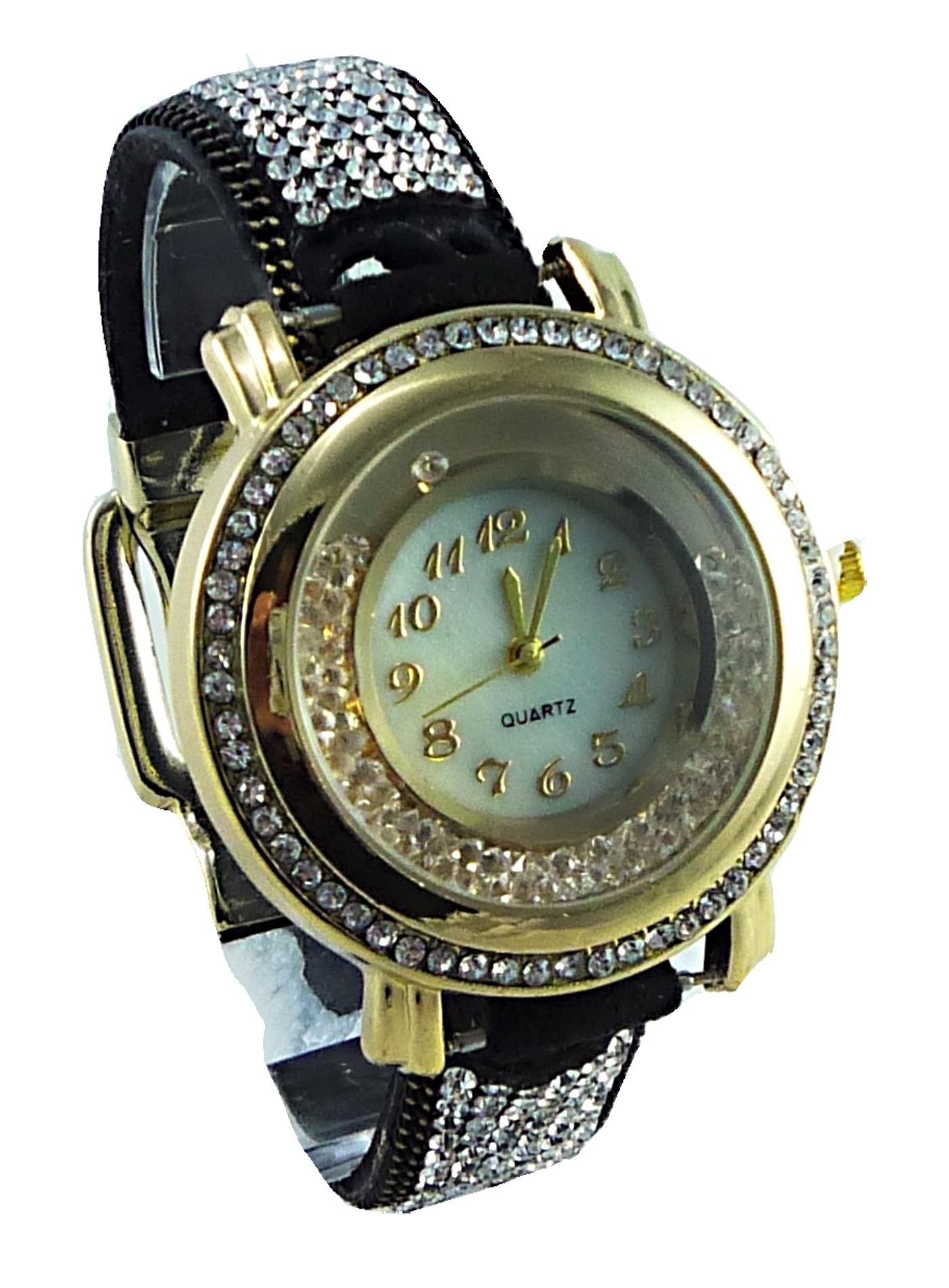 Dámské hodinky ANAIS Zirkon Black 038D