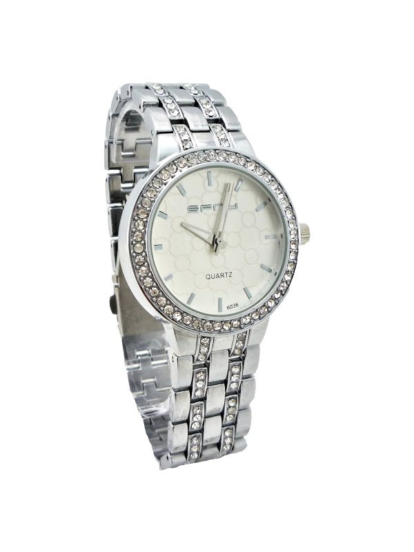 Dámské stříbrné hodinky SFNY s kamínky 186ZD afb461616fb