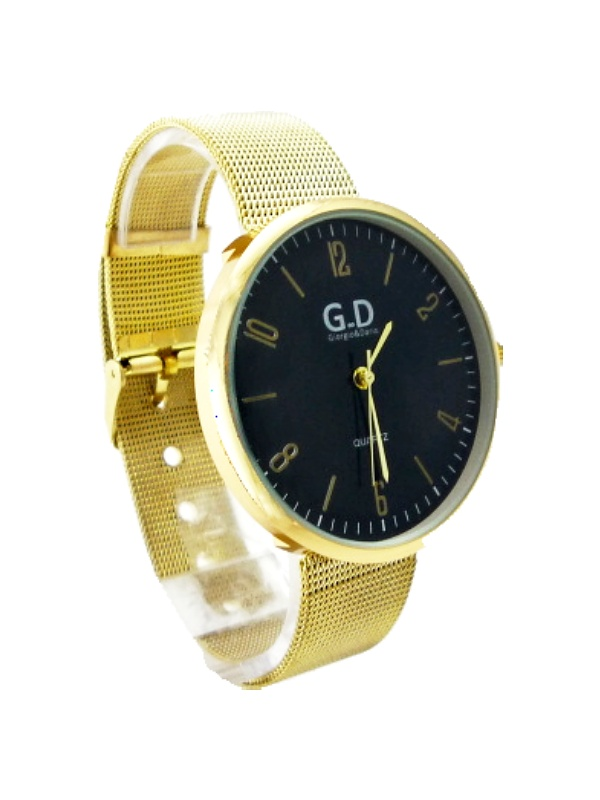 Dámské zlaté hodinky GD Gold black 200D