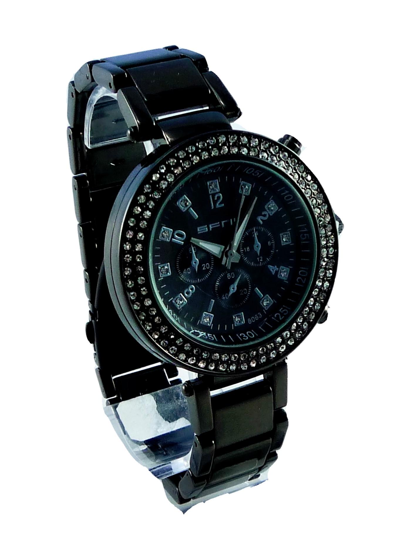 Dámské hodinky s kamínky SFNY Braun 040D