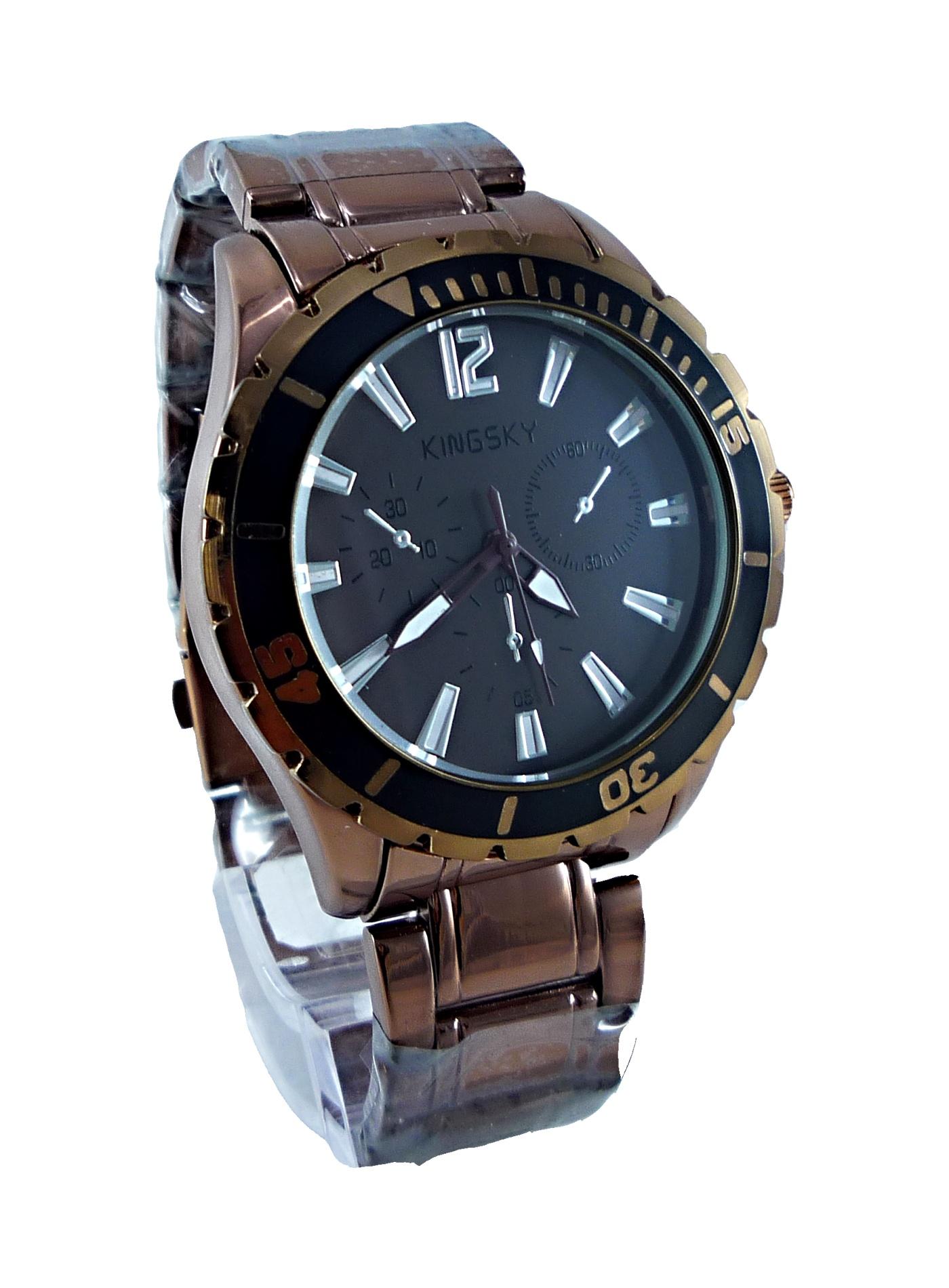 Pánské bronzové hodinky KINGSKY Extra bronze 093P