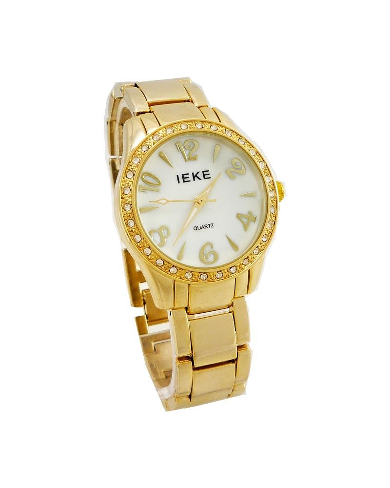 8c3423de5fe Dámské hodinky IEKE Temply zlaté 189D