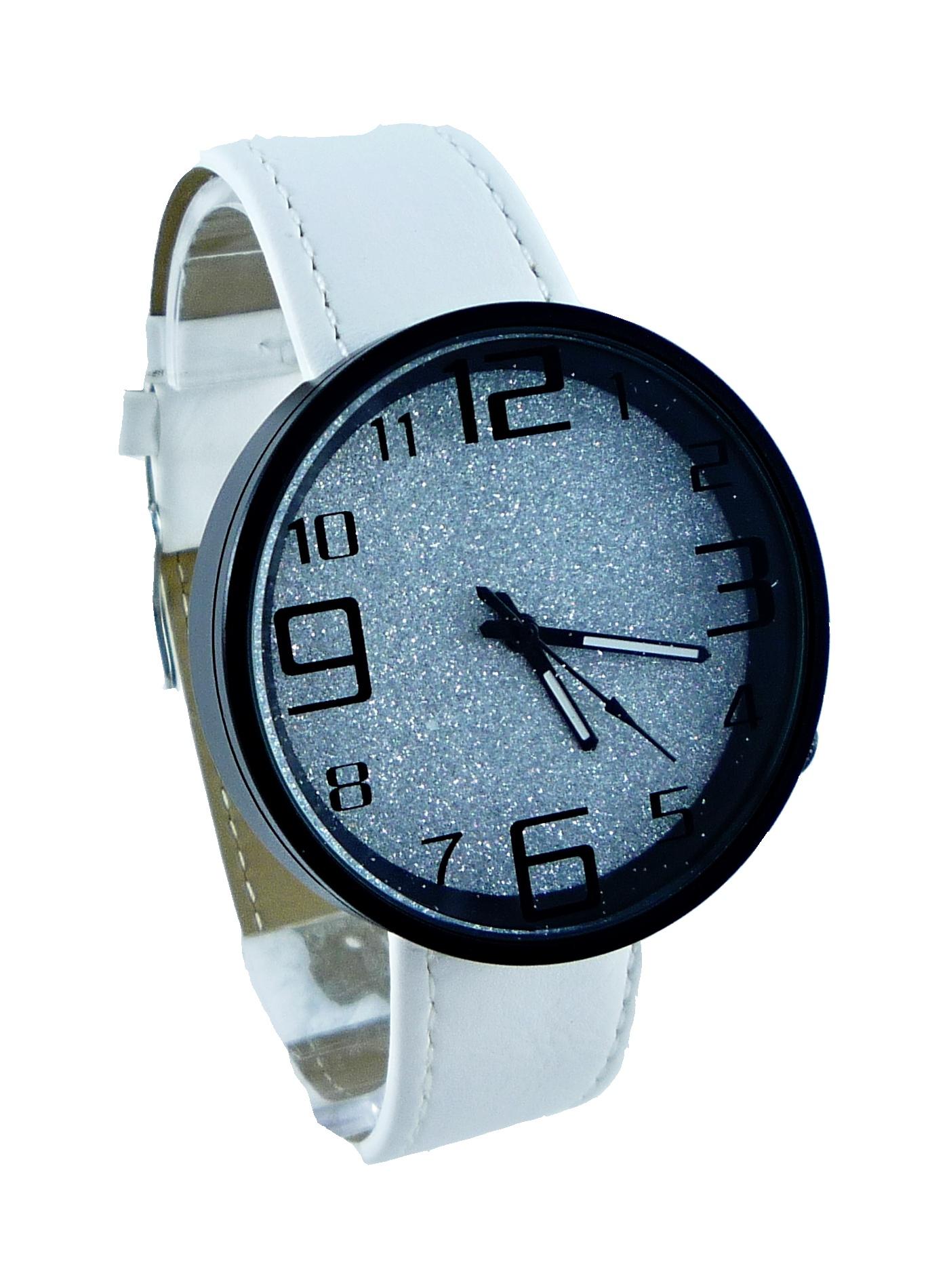 Dámské bílé hodinky GD WHITE Silver 195D