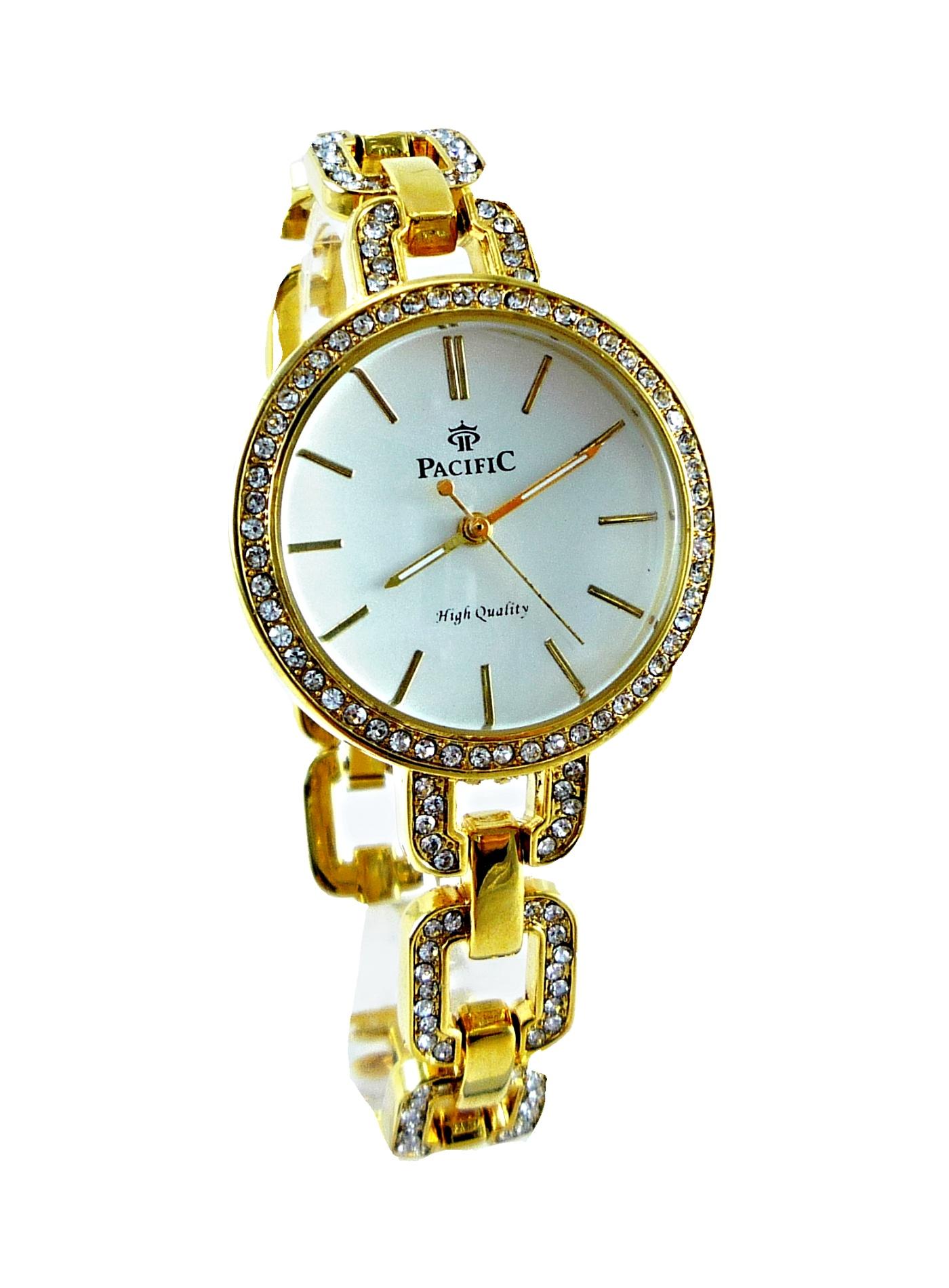 Dámské hodinky Pacific zlaté 060D