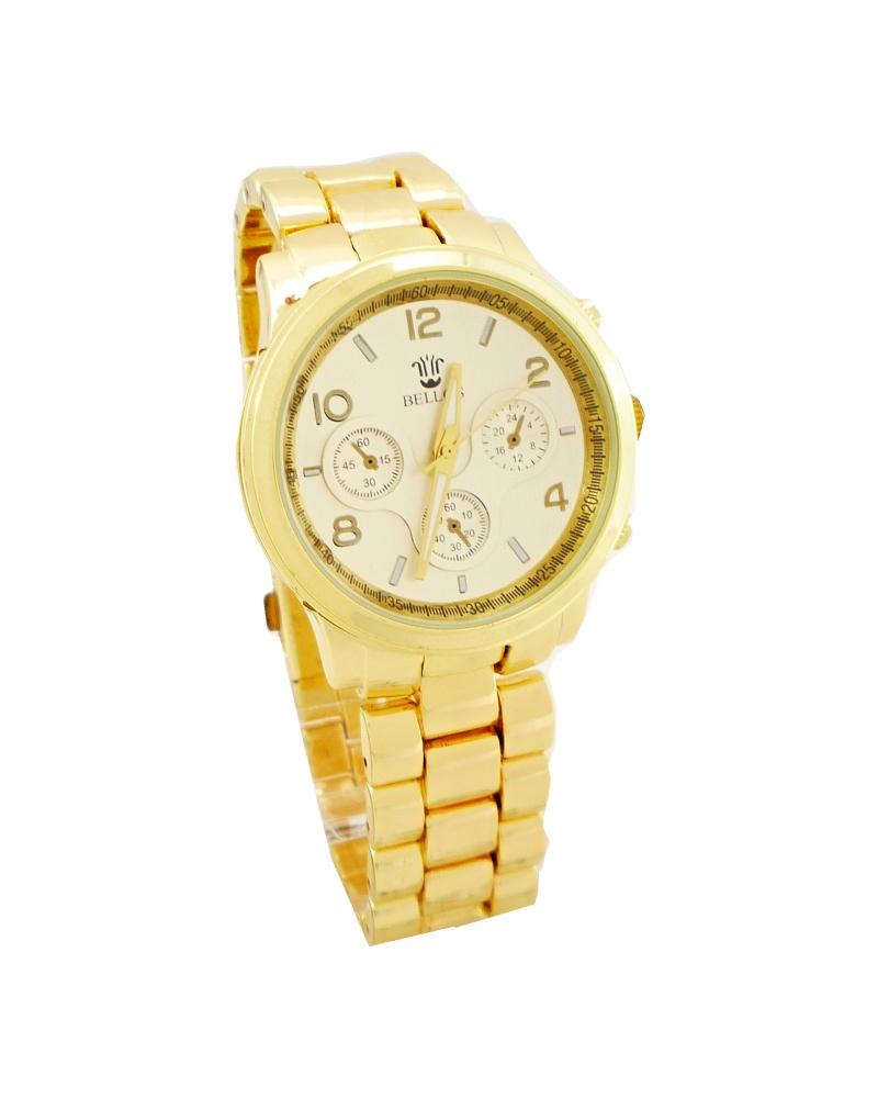 Dámské zlaté hodinky Bellos Luxory 152D