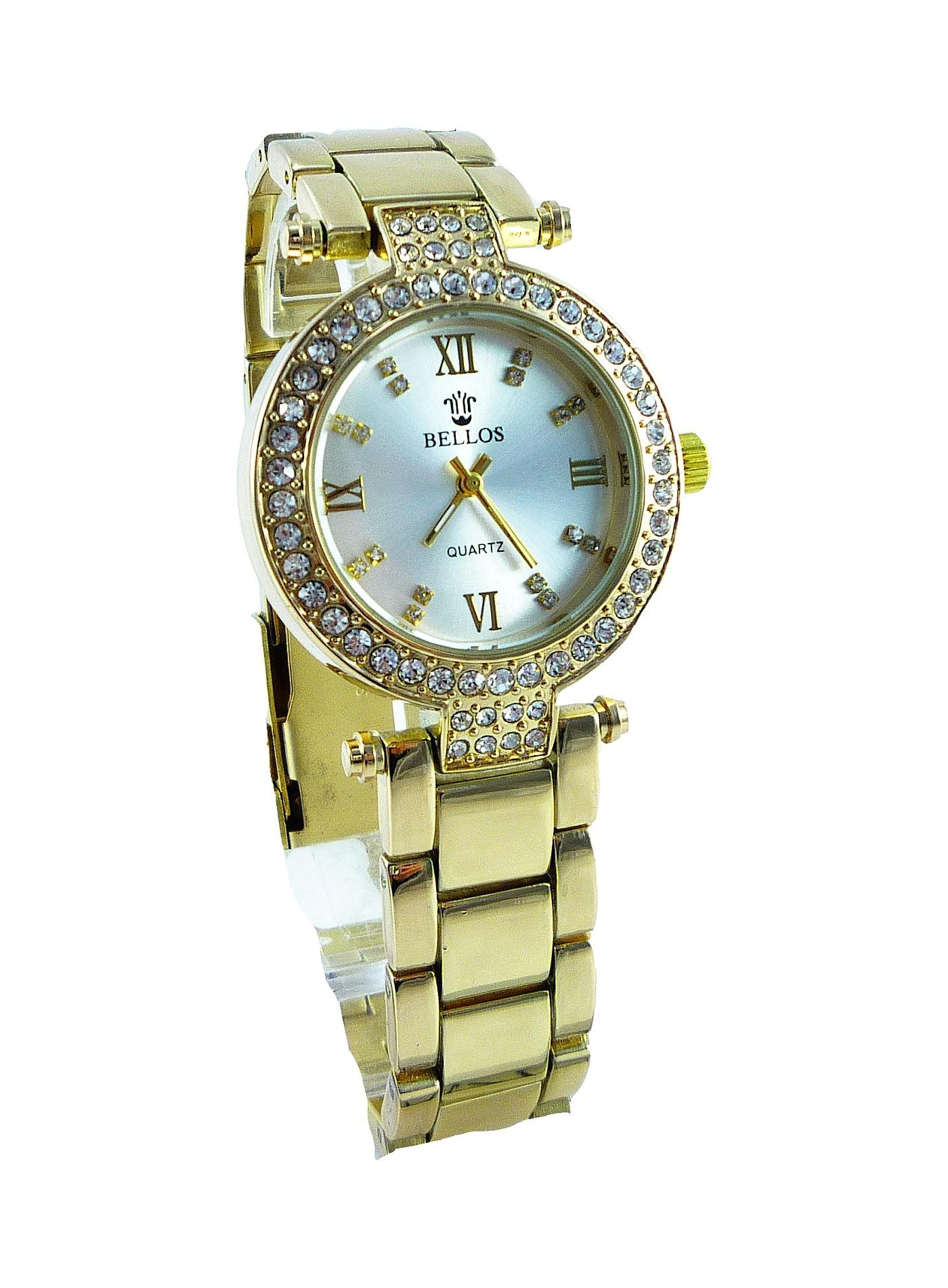 Dámské zlaté hodinky BELLOS Gold NICE 072D