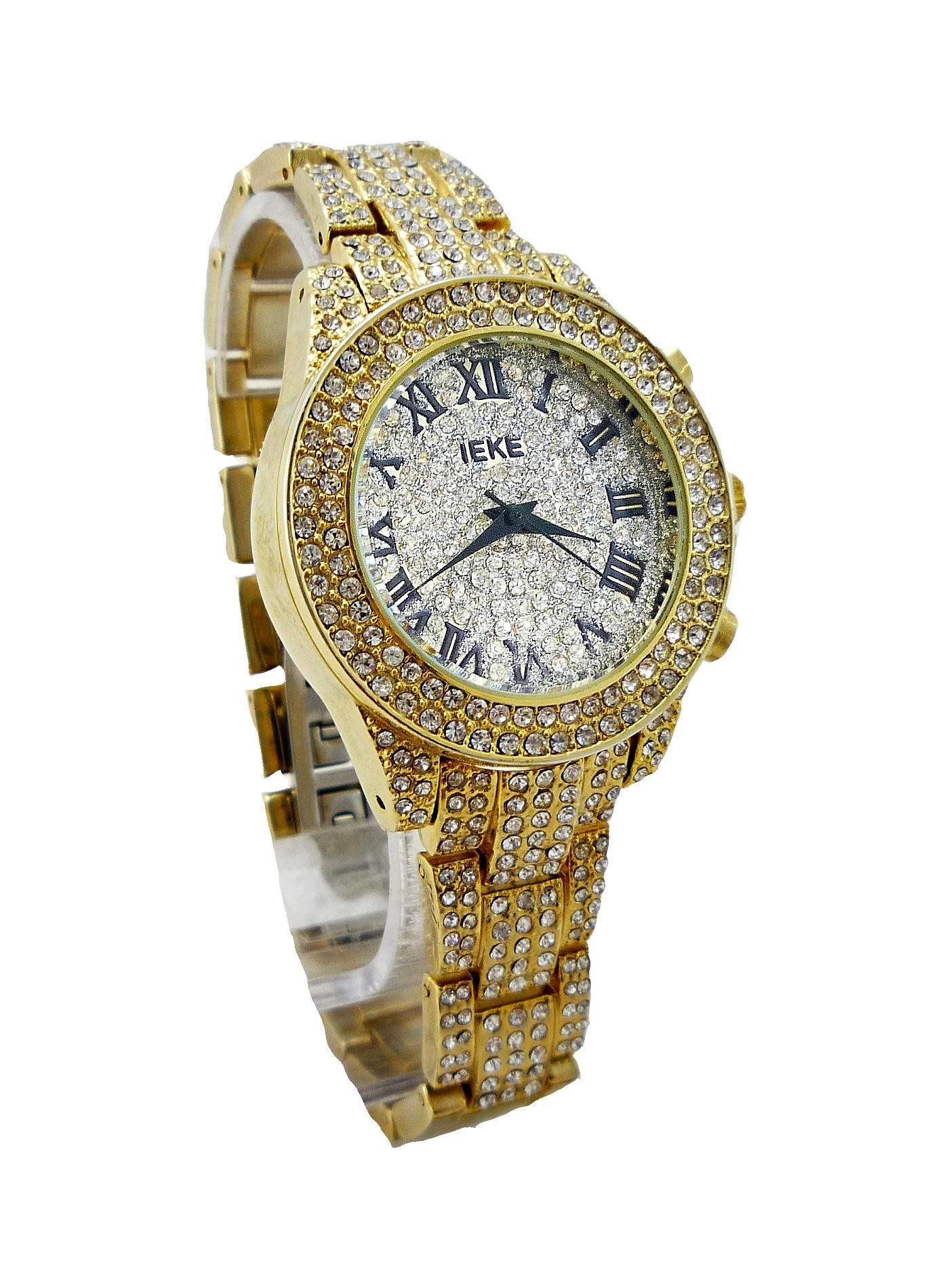Dámské zlaté hodinky IEKE Gold extra 136D