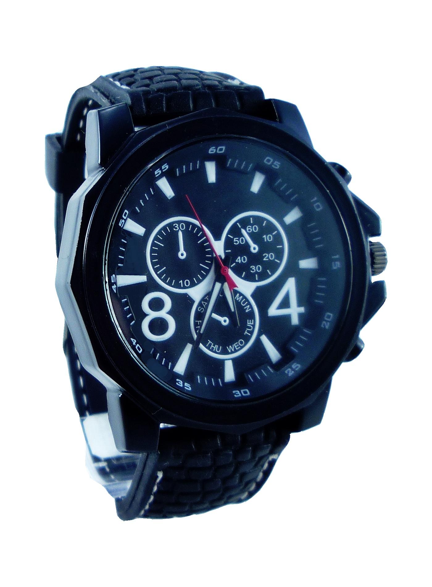 G.D pánské hodinky STEEL Sports black 042P