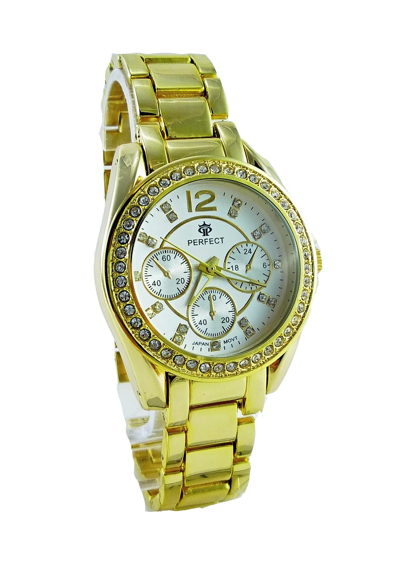 Dámské hodinky Perfekt zlaté 062D