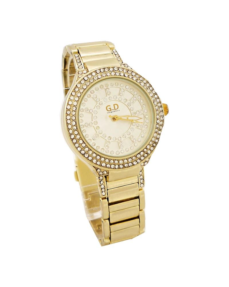 Dámské hodinky G.D zlaté 089D