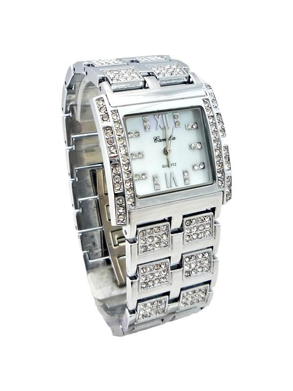 Elegantní dámské střbrné hodinky Camelia White 124D