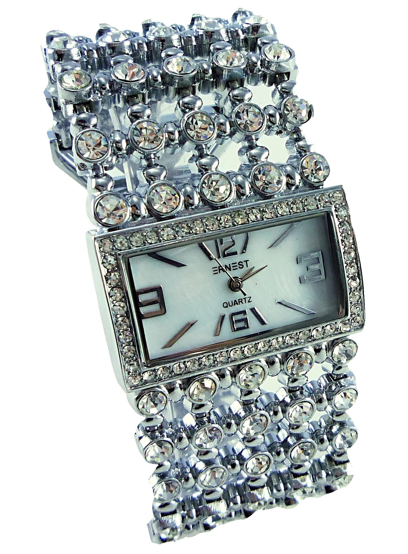 Dámské hodinky stříbrné Cubus Ernest 001D