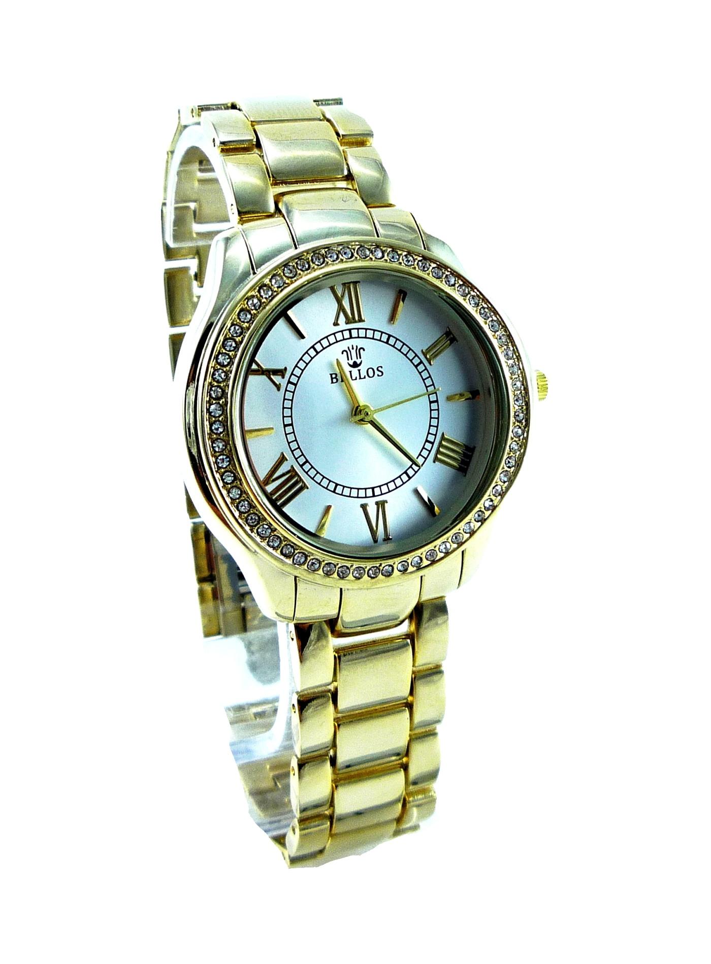 Dámské zlaté hodinky BELLOS Gold Elegant 070D