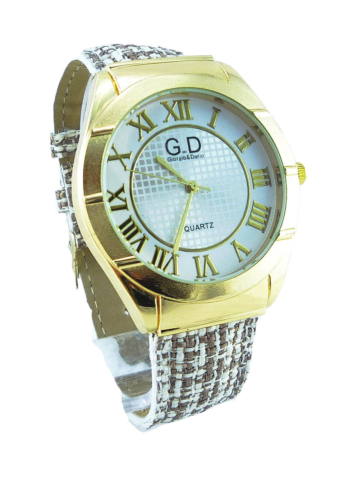 Dámské hodinky G.D béžovo-zlaté 019D