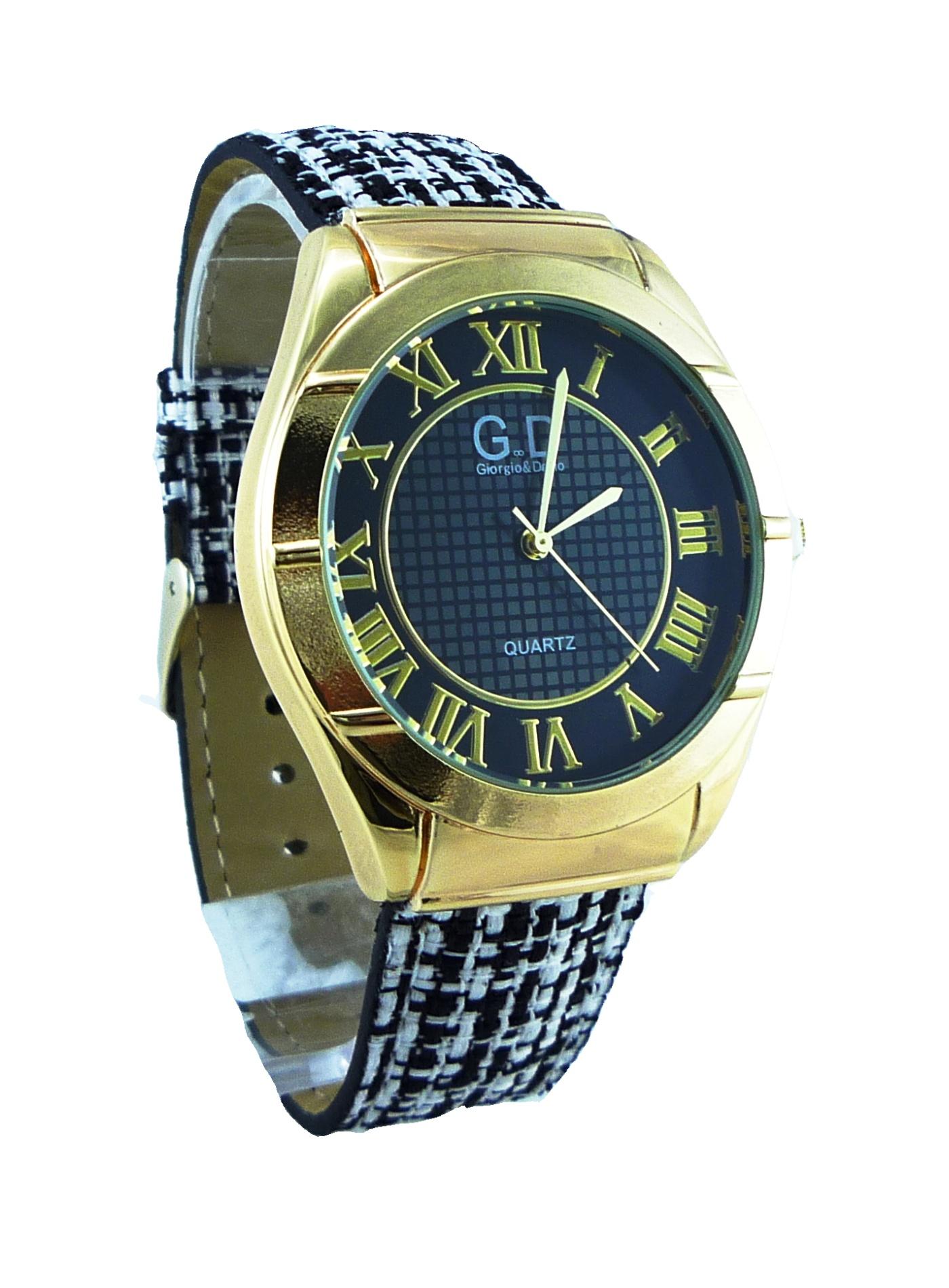Dámské hodinky GD černo-zlaté 024D