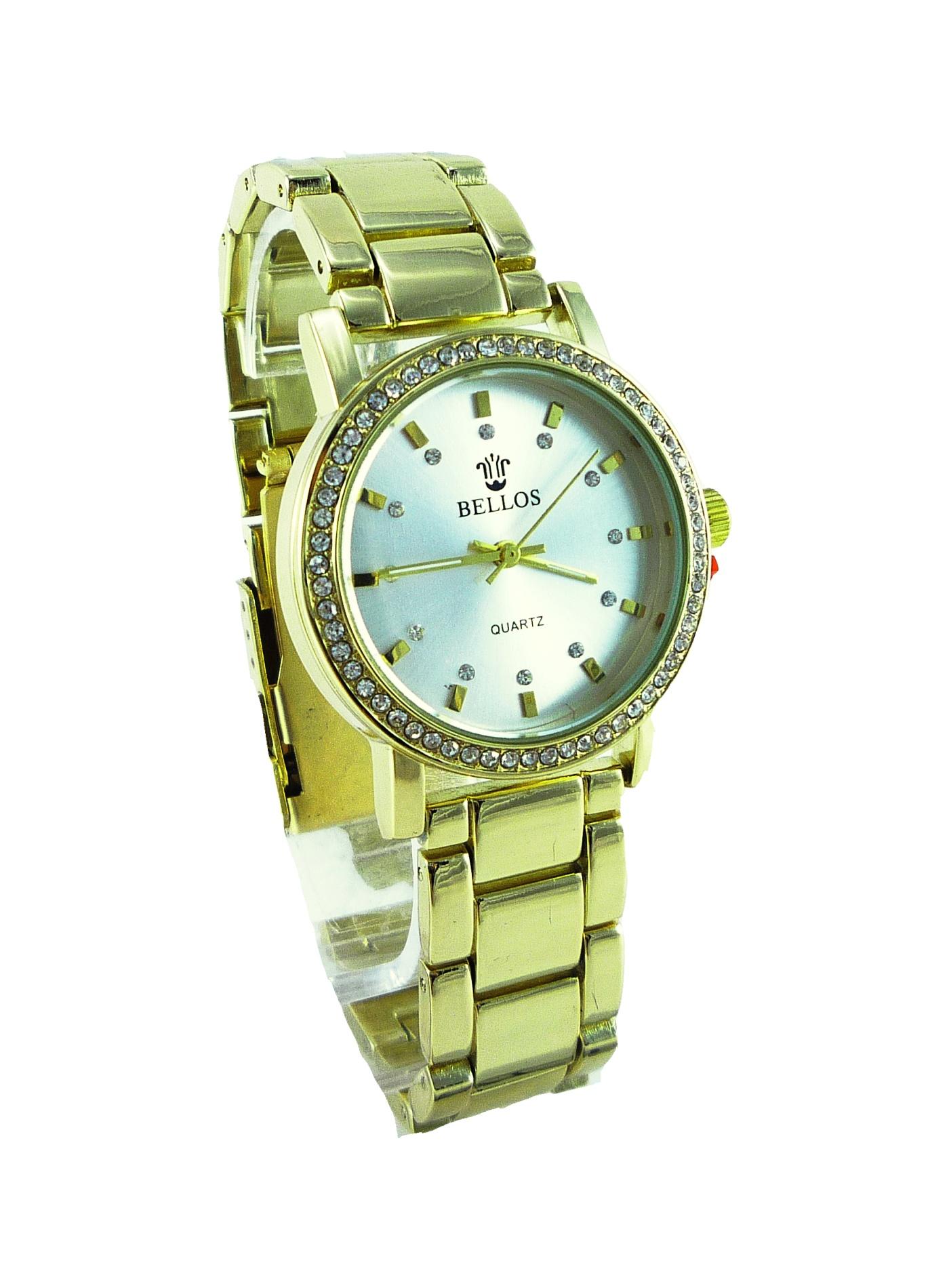 Dámské zlaté hodinky BELLOS Gold elegants 150D