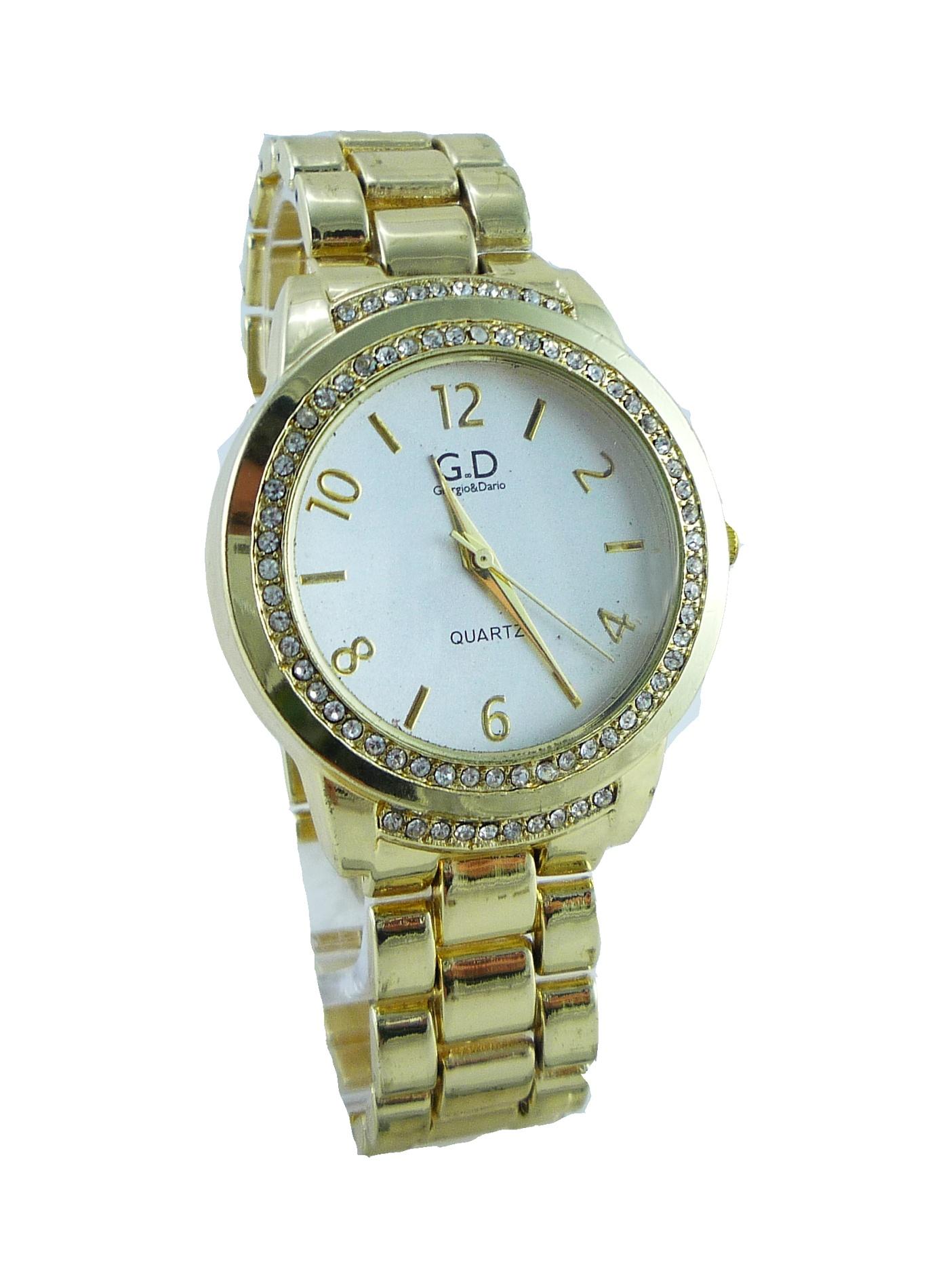 Dámské zlaté hodinky G.D Gold fabion 128D