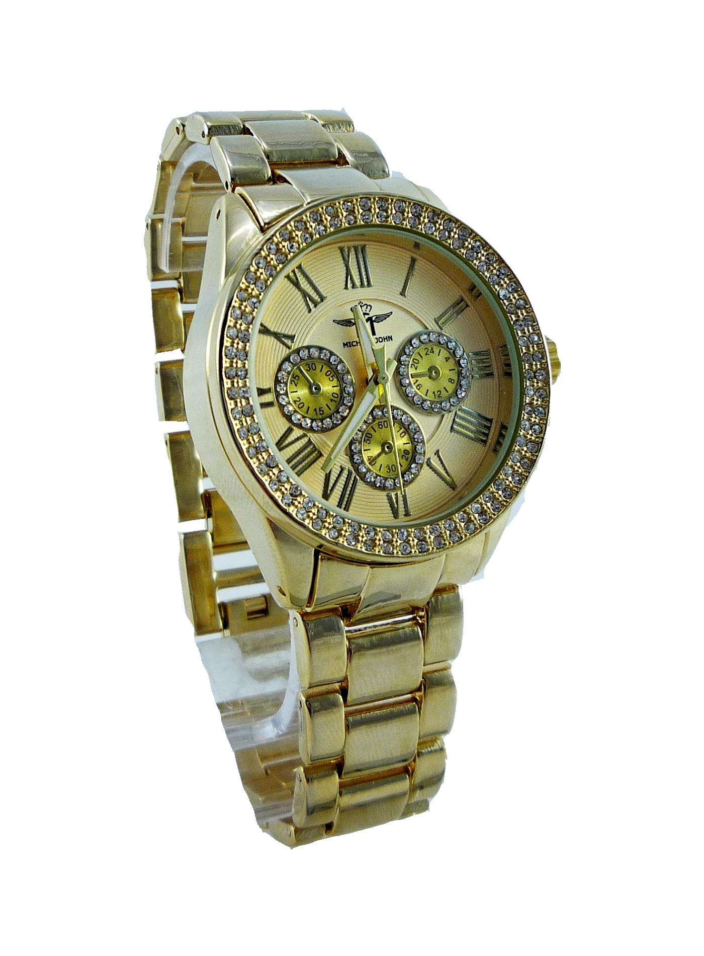 Dámské zlaté hodinky JOHN Gold extra 067D
