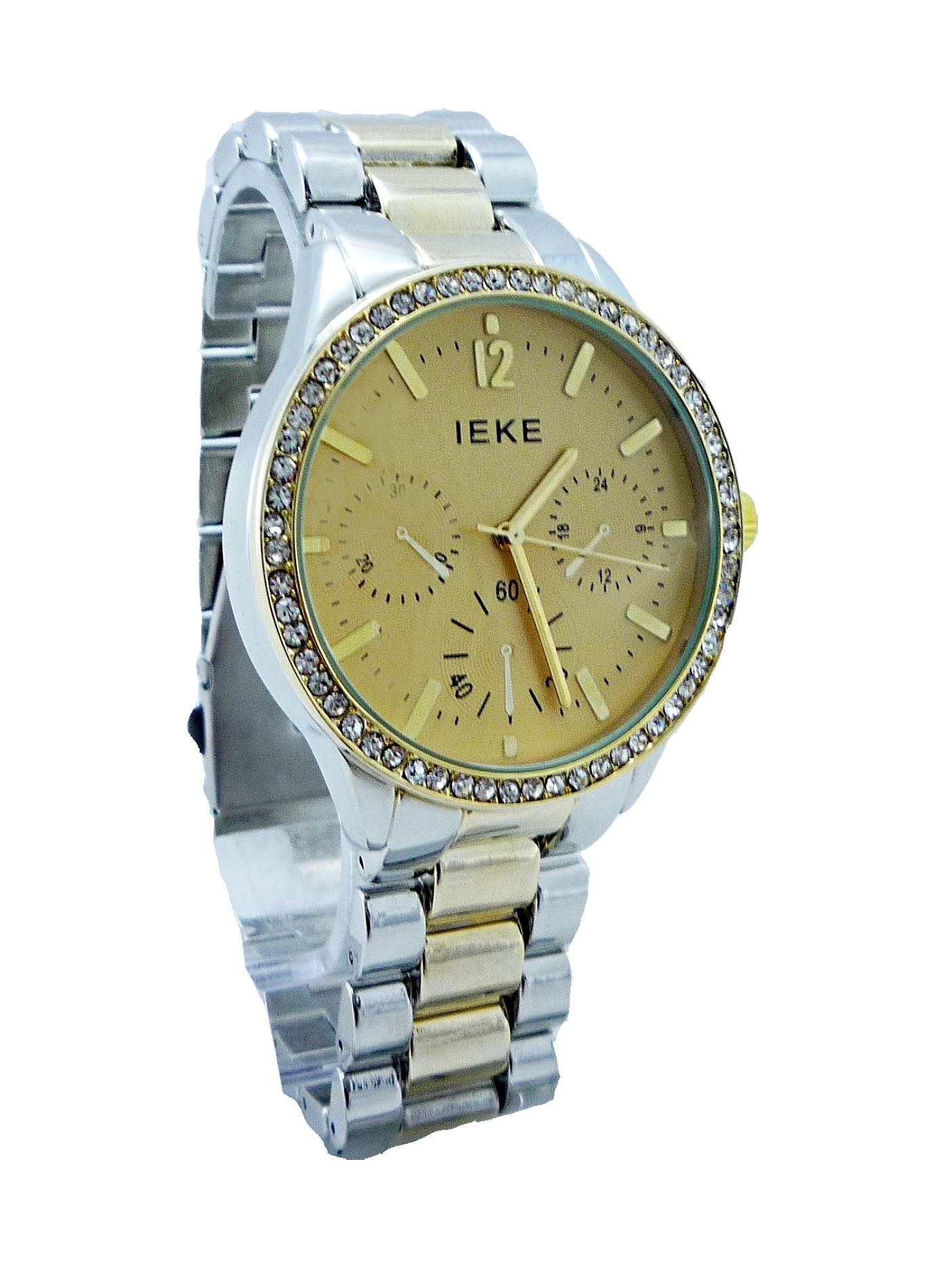 Dámské hodinky IEKE zlato-stříbrné 131D