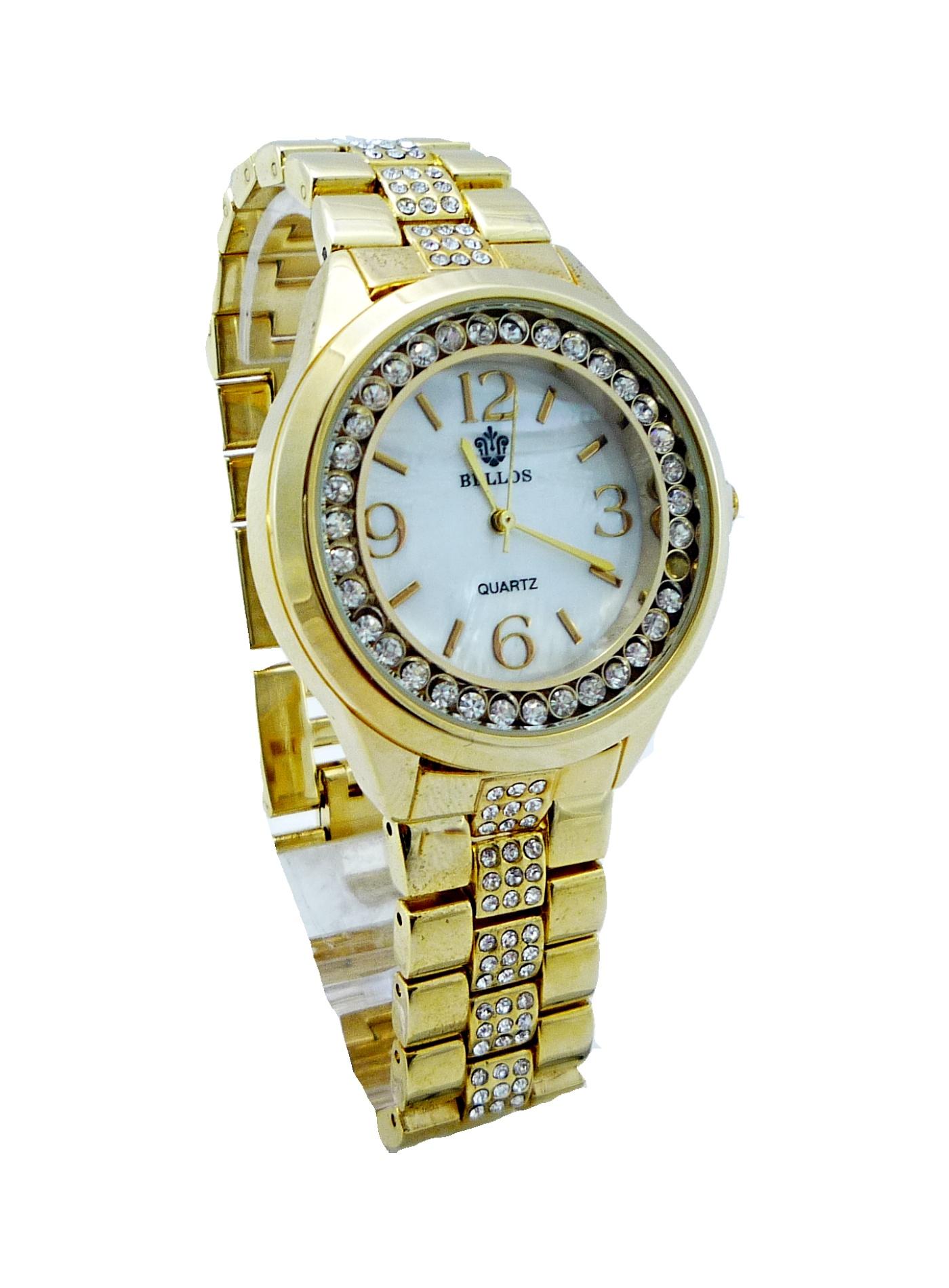 3e1044fd652 Dámské zlaté hodinky Bellos Pearl 063D