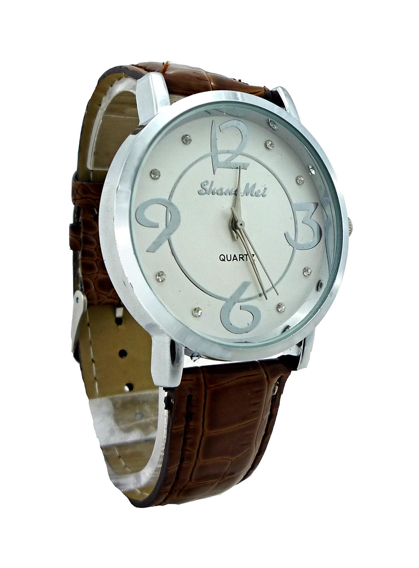 Dámské kožené hodinky SHANG Brown 017D