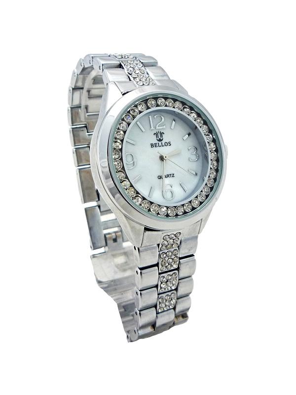 Dámské stříbrné hodinky Bellos Pearl 076D